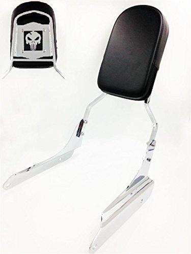 2000 Honda Vt600c Shadow - HK MOTO- Skull Backrest Sissy Bar Leather Pad For 1998-2007 Honda Shadow Vlx 600 Vt600C