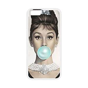 "Custom Colorful Case for Iphone6 Plus 5.5"", Audrey Hepburn Cover Case - HL-546919"
