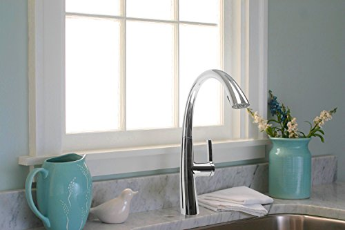 Cosmo COS-KF863C Modern Luxury High Arc Pull-Down Tap Mixer Kitchen Faucet, Chrome by Cosmo (Image #4)