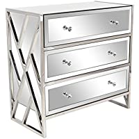 Deco 79 87398 Glam 31 x 32 Inch Rectangular Console Table, Silver