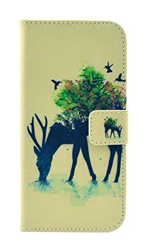 PowerQ [ para Samsung Galaxy S6Edge G925 - X-24 ] PU Funda Serie bolsa Modelo colorido con bonito hermoso patrón de impresión Impresión Dibujo monedero de la cartera de la cubierta móvil del bolso del X-13