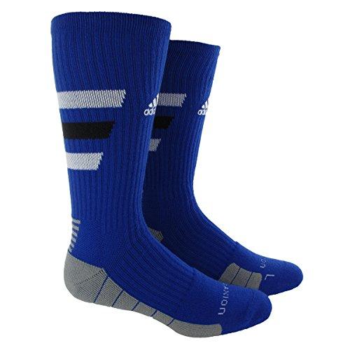 adidas Team Speed Traxion Crew Socks, Collegiate Royal/White/Aluminum 2, Small
