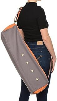 Dusky Leaf Cubist Yoga Bag - Canvas Yoga Mat Bag for Large Yoga Mats