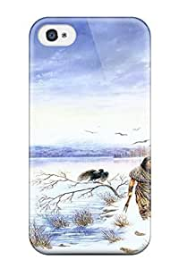 Fashion Tpu Case For Iphone 4/4s- Drawing Artistic Abstract Artistic Defender Case Cover wangjiang maoyi