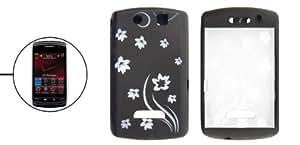 Tallada caso de Shell protector Negro de silicona para Blackberry 9500 9530