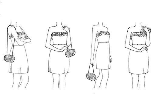 LXDDJsl kvinnor handväska clutches väska för kvinnor kvinnor kvinnor clutches kvällsväskor handväskor bröllop kuvertväska med avtagbar kedjeband Tooy (färg: svart) Svart