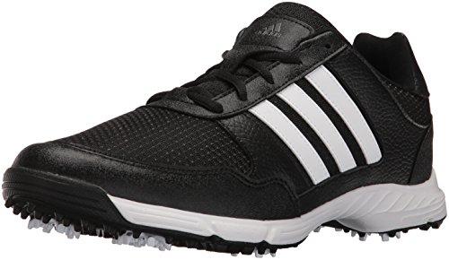 adidas Men's Tech Response Golf Shoe, Black, 10 W US