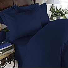 Elegant Comfort 3 Piece Ultra Soft Egyptian Quality Coziest Duvet Cover Set, Full/Queen, Navy Blue