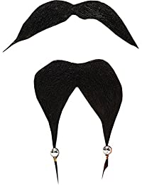 Fancy Party Costume Fake Facial Hair Caribbean Pirate Beard & Tash/moustache