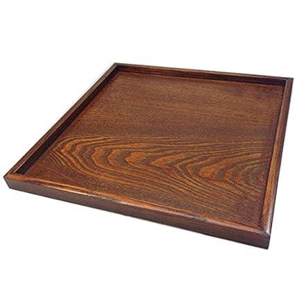 Super UD bandeja de madera decorativa bandeja cuadrada para Otomano servir para alimentos café o té