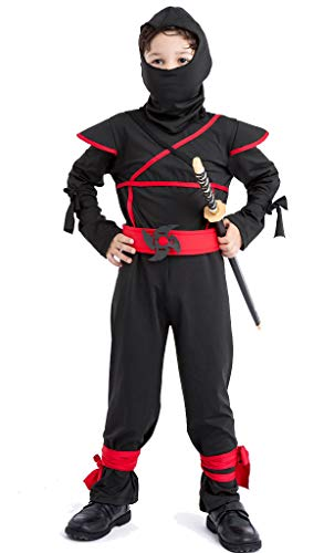 YOLSUN Ninja Costume Set,Kid's Role Play,Pretend Play Dress (S(Height:32