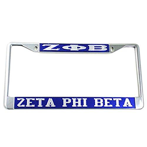Greekgear Zeta Phi Beta License Plate - Frame License Phi Plate