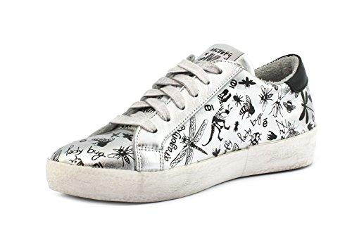 MELINE Sneaker KU 1902 Velam. Argento Galaxy Nero- Xer Jurassic FObDnZ4l