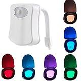 Auto Night Light- 8 Colors,Tuscom@ Body Sensing Automatic LED Motion Sensor Night Lamp Toilet Bowl Bathroom Light