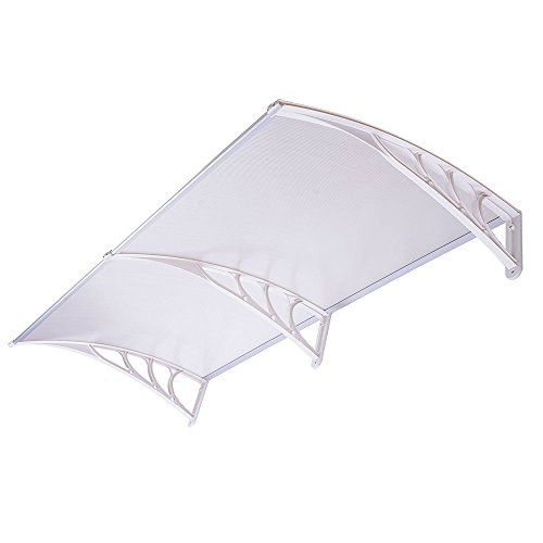 eight24hours-40-x-80-outdoor-polycarbonate-front-door-window-awning-patio-cover-canopy-type-a-white-