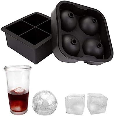 2 Pack Silicona XXL molde forma de bola de hielo cubitos de hielo ...