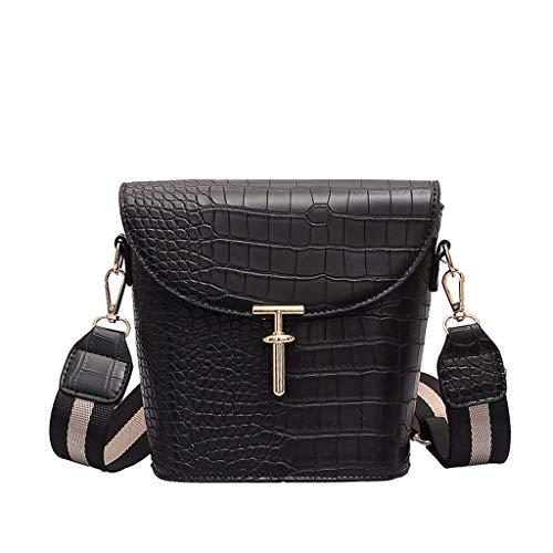 (Sales!Women Tote Bags Top Handle Satchel Handbags Shoulder Purse-Multi-Pocket Cotton Canvas Handbags Shoulder Bags Totes Purses-Crocodile Pattern Embossed Bucket Bag Shoulder Bag Messenger Bag)