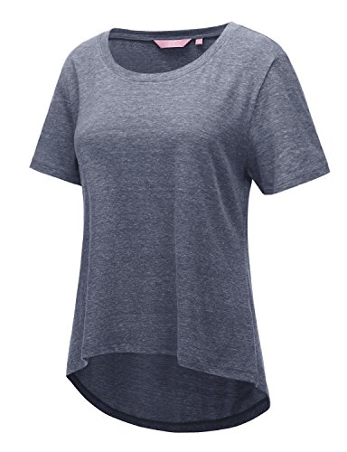 Regna X Short Sleeve Round Neck Cotton Tri-Blend Summer T-Shirt Top (3 Style, S-3X)