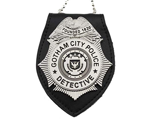 Gotham City Detective TV Series Badge with Leather Holder - Replica -