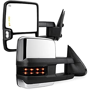 07 Classic models SCITOO Towing Mirrors fit Chevy GMC Puddle Lights Black Rear View Mirrors fit 2003-2006 Silverado//Sierra Clearance Turn Signal Power Controlling Heated 065188-5206-1859257131