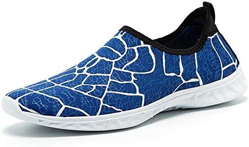 男性と女性のウォーターシューズサーフィンビーチスイミングシュノーケリング速乾性排水通気性のソフトで軽いカップル上流の川のハイキングアウトドアスポーツやレジャー中立的な靴 ポータブル (色 : Blue, Size : US7.5)