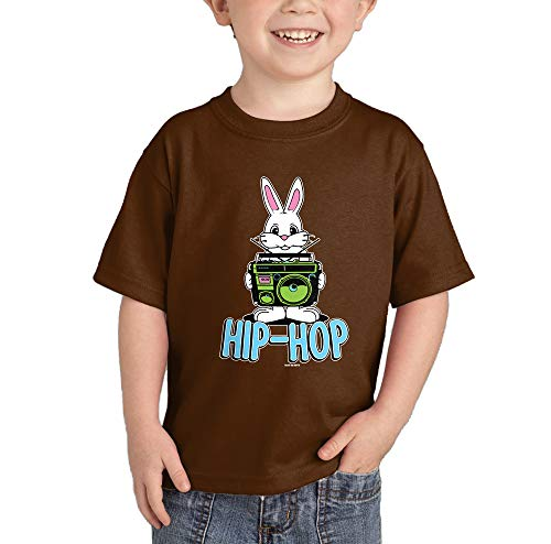 HAASE UNLIMITED Hip-Hop Bunny T-Shirt (Brown, 12 Months) by HAASE UNLIMITED