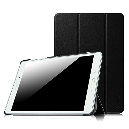 Fintie Slim Shell Case for Samsung Galaxy Tab A 9.7 - Ultra Lightweight Protective Stand Cover with Auto Sleep/Wake Feature for Tab A 9.7-Inch Tablet SM-T550, SM-P550 (With S Pen Version), Black
