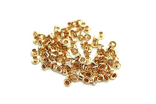 Pour Gold Œillets En Rose Gold 3 Manuels Travaux Vêtements Cuir Mm Et De Lot 100 Weddecor Mm Dorés 2 CqwHfnX