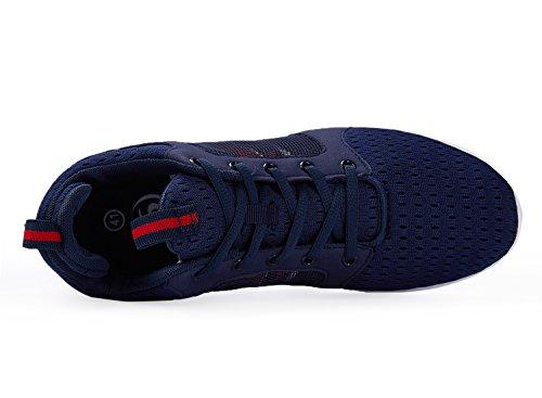 Santiro - Zapatillas Altas De Malla Transpirable, Azul Marino Para Hombre