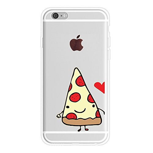 iPhone 6s Bff Case for Him,Cute Best Friends Things for Girls Boys,FriendShip Pizza & Beer Princess & Prince Sisters Bff Matching Pink Funny Love Forever Soft Clear Case for iPhone 6-Pizza]()