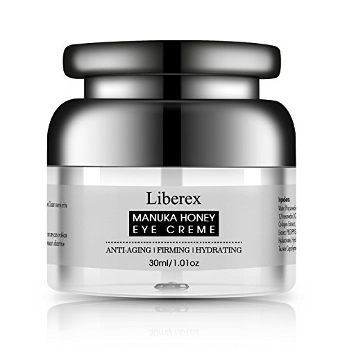 Liberex Honey Eye Cream for Women & Men - Dark Circles, Puffiness, Wrinkles and Bags Reducer with Natural Propolis from Manuka Honey for Under and Around Eyes - 30ml/1.01 oz.