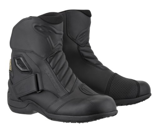 Road Gore Tex Motorcycle - Alpinestars New Land Gore-Tex Men's Motorcycle Street Boots (Black, EU Size 43)