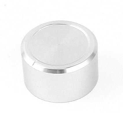 eDealMax Plata del tono Continuo Volumen de aluminio altavoz de alta fidelidad perillas 38x22mm
