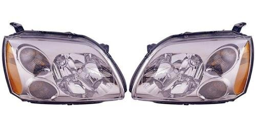 Pair/Set - Compatible 2005-2007 Mitsubishi Galant Front Headlights Headlamps Assemblies Front Housing/Lens / Cover - Left & Right (Driver & Passenger) Side - (SE) Replacement for ()