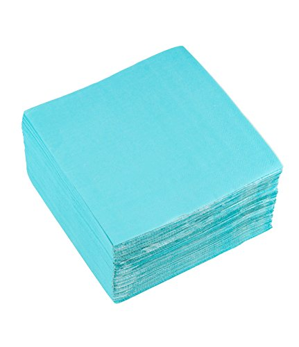 Cocktail Napkins - 150-Pack Disposable Paper Napkins Party Supplies, 2-Ply, Turquoise, Unfolded 13 x 13 Inches, Folded 6.5 x 6.5 Inches