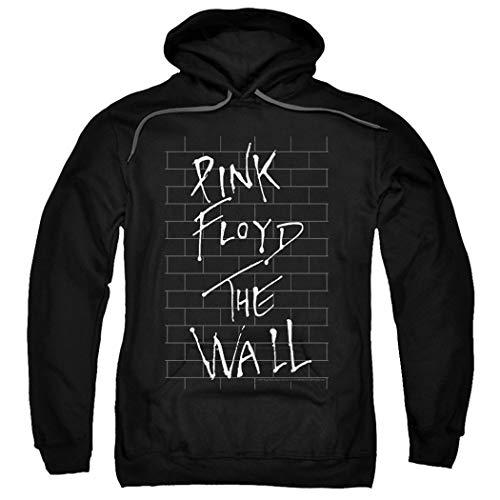 (Pink Floyd The Wall Album Rock Band Black Pullover Hoodie Sweatshirt & Stickers (X-Large))