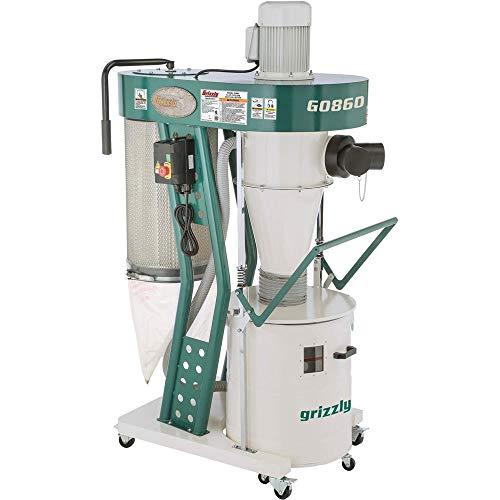Grizzly Industrial G0860-1-1/2 HP Portable Cyclone Dust Collector reviews