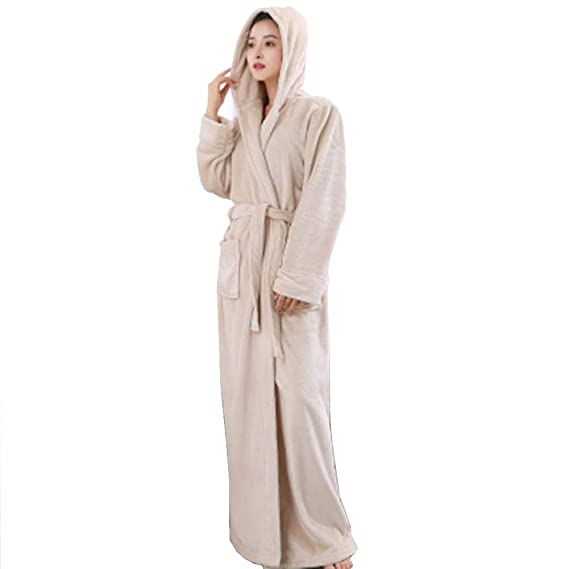 79bb7d739a Image Unavailable. Image not available for. Colour  Soft Cosy Thick Coral Fleece  Bathrobe Warm Bathrobe