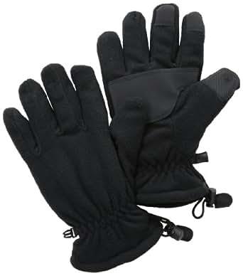 Izod Men's Fleece Glove with Mirafil Insulation, Black, Large