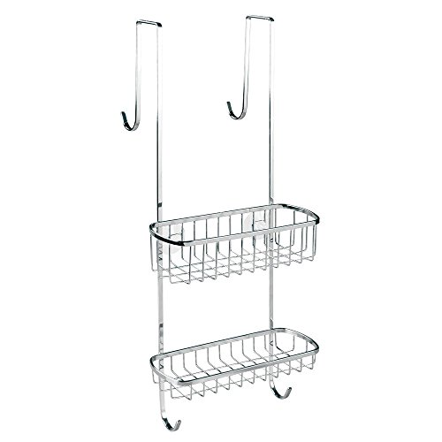 InterDesign Gia Bathroom Over Shower Door Caddy for Shamp...