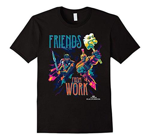 Mens Marvel Thor Ragnarok Working Friends Neon Blast T-Shirt Large Black