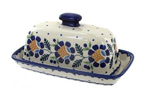 Blue Rose Polish Pottery Sunflower Butter Dish (Blue Rose Pottery Butter Dish)