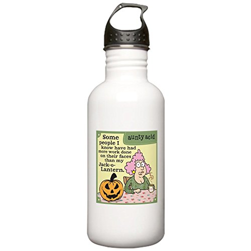 CafePress - Aunty Acid: Jack O Lan Stainless Water Bottle 1 - Stainless Steel Water Bottle, 1.0L Sports Bottle