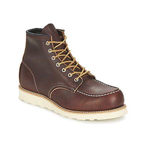 Red Wing Mens Moc Toe 8138 Brown Leather Boots 10.5 -