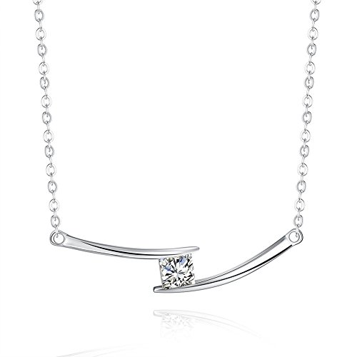 iCAREu Silver Plated Tribal Style Zircon Pendant Necklace for Women,Girls, 18