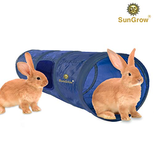 Collapsible Pet Tunnel - Collapsible Hideaway - for pet Exercise, Training - Soft Fabric Activity Center Extends 35