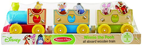 Winnie The Poo And Friends (Melissa & Doug Disney Baby Winnie the Pooh All Aboard Wooden Train With 3 Train Cars and 5)