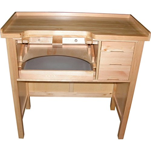 Grobet Jewelers Work Bench W/ Metal Work Pan 3 Drawer