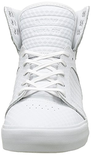 Supra Skytop Classic, Unisex Adults' High-Top Sneakers Blanc (White-white)