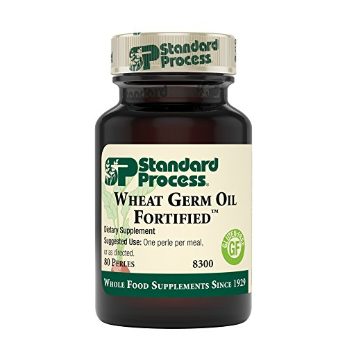 Standard Process - Wheat Germ Oil Fortified - Immune System and Inflammatory Response Support Supplement, Provides Antioxidant Activity, Gluten Free - 80 Perles
